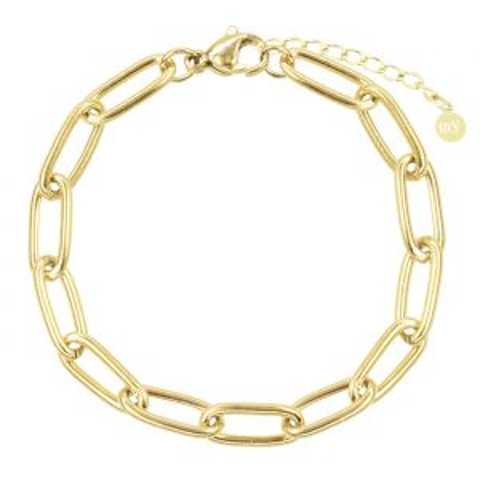 Armband ovale schakels-Goud