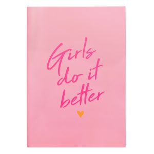Schrift ruitjes A4 Girls Do It Better, schoolschrift My Jewellery