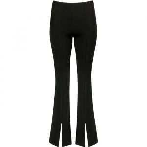 Zwarte flared pants met split, flared broek My Jewellery