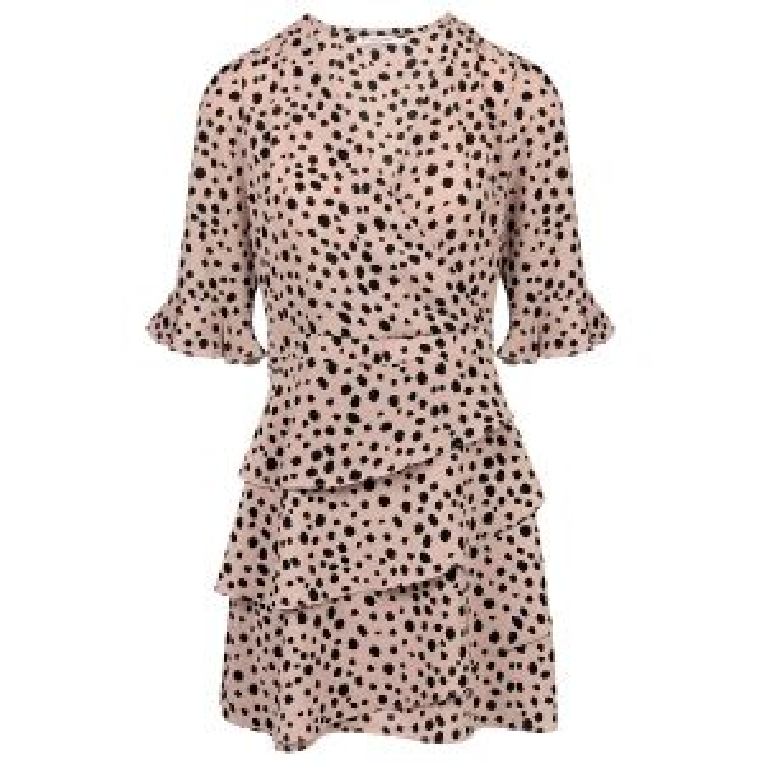Roze overslagjurk cheetah, dalmatier print My Jewellery