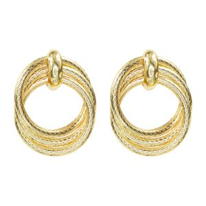 Oorhangers drie ringen print, oorhangers print My jewelry