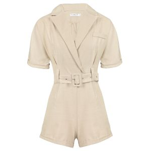 Beige playsuit met riem, playsuit My Jewellery