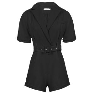 Zwarte playsuit met riem, playsuit My Jewellery