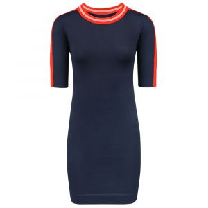 Donkerblauwe sweater jurk-S-M