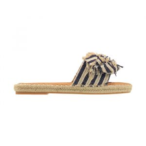 Slipper met knoop en print, espadrille slippers My Jewellery