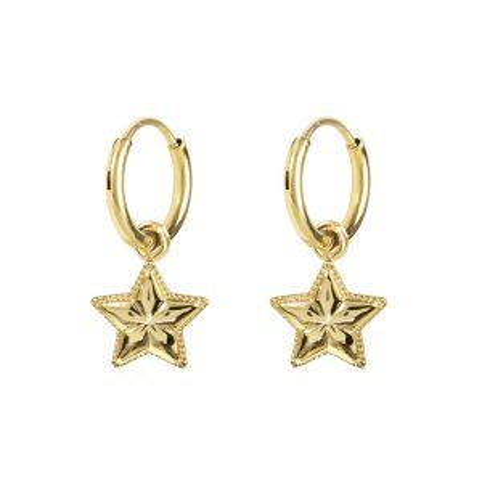 Oorringen met ster, oorringetjes My Jewellery