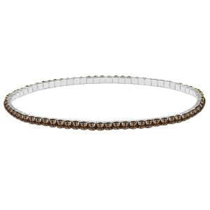 Zilveren armband strass steentjes brons, zilveren armband strass steentjes My Jewellery