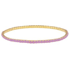 Gouden armband strass steentjes-Paars