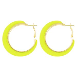 Neon gele oorringen, statement oorbellen my Jewellery