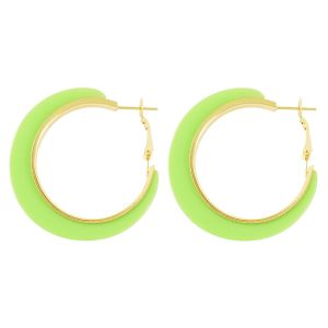 Neon groene oorringen, statement oorbellen My Jewellery