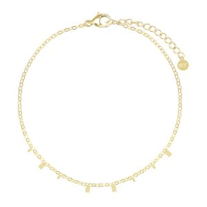 Armband kleine rechthoekjes-Goud