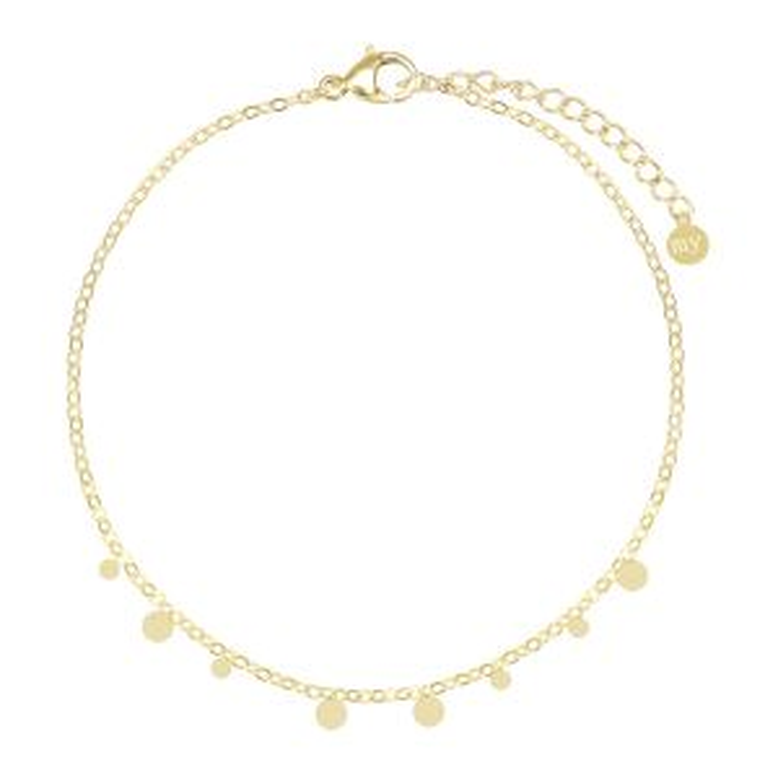 Armband kleine rondjes-Goud
