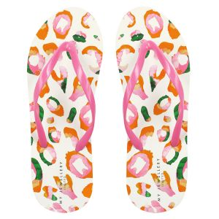 Slippers luipaard print roze-36