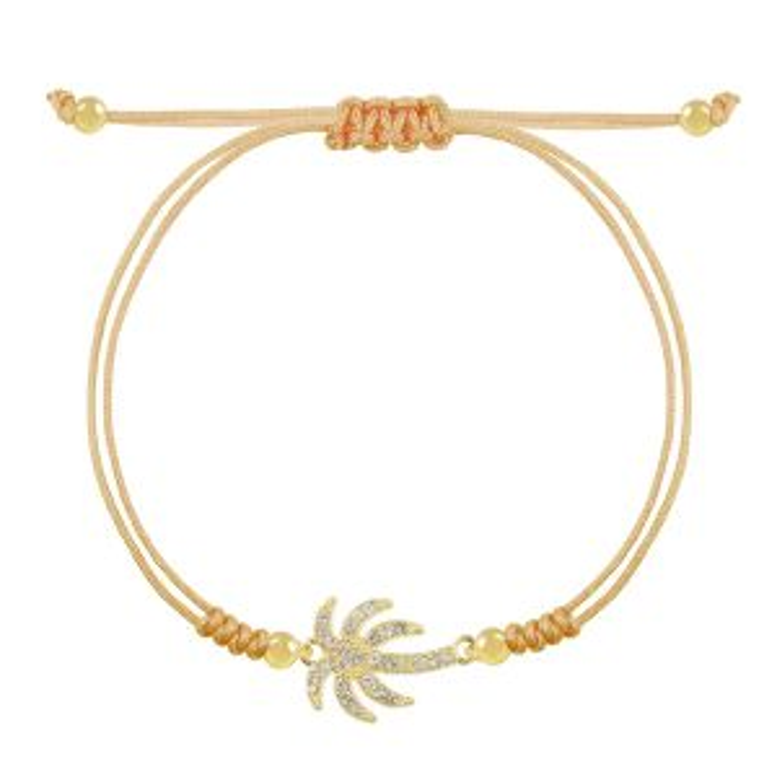 Armband strass palmboom, touwarmbandje My Jewellery