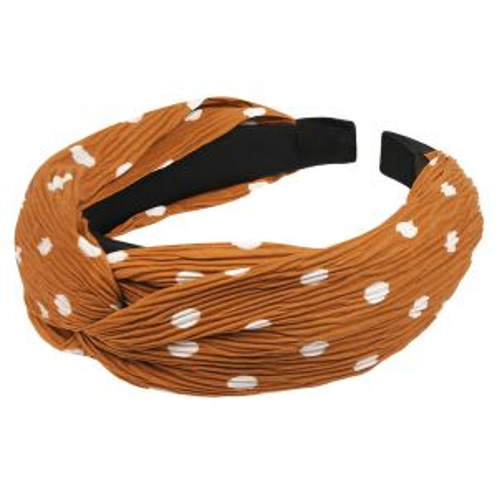 Oranje haarband stippen