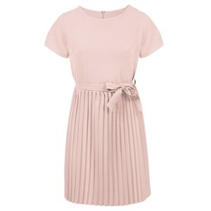 Lichtroze plissé jurk, geplooide jurk My Jewellery