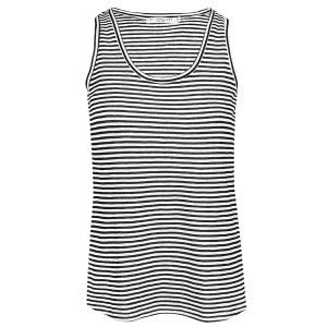 Zwarte gestreepte tank top, gestreepte top My Jewellery