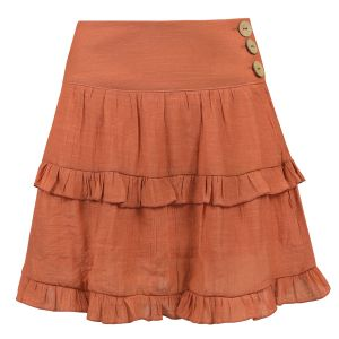 Oranje rok ruffles & laagjes, ruffle rok My Jewellery