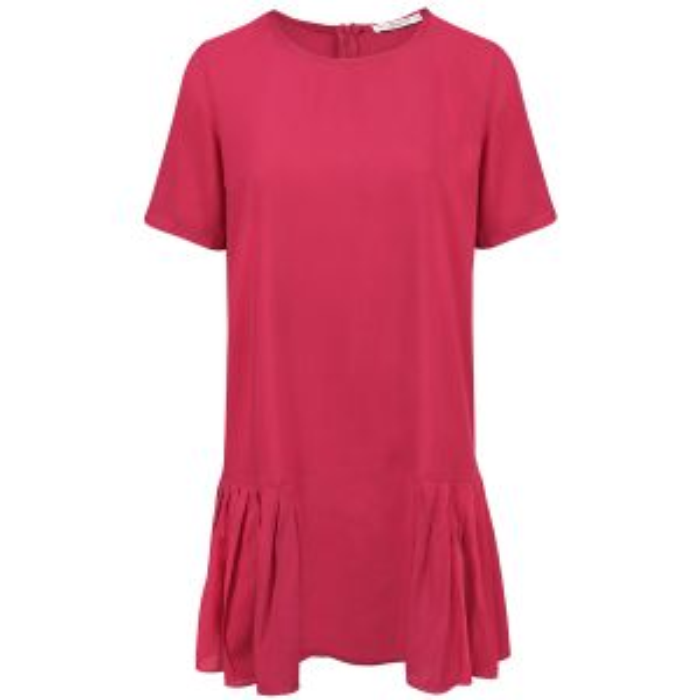 Roze jurk met plooien, wijdvallende jurk My Jewellery