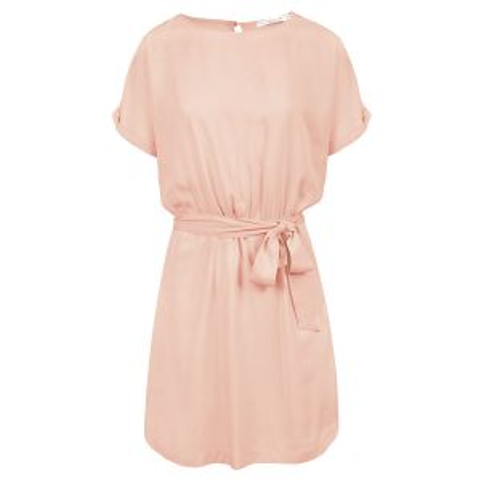Lichtroze jurk met open rug-XS