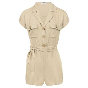 Beige overhemd playsuit, beige playsuit My Jewellery