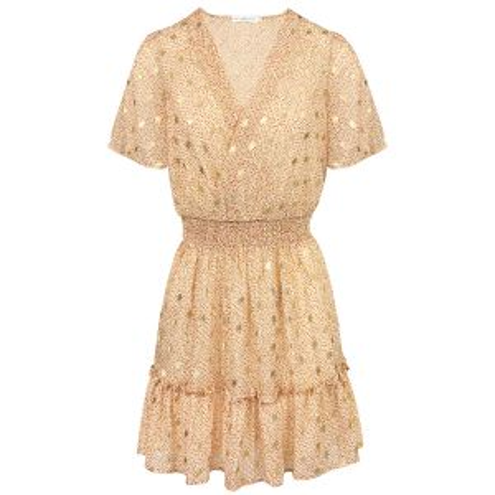 Beige jurk bohemian-XS