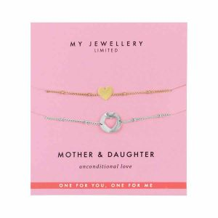 Mother & Daughter Bracelet Heart -Multi kleur