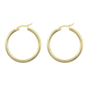 Oorringen basic medium goud My Jewellery
