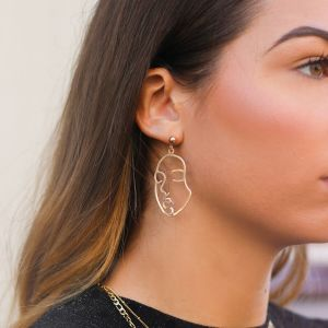 Lined Face Earrings