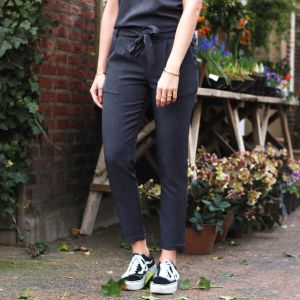 Antraciet pantalon casual