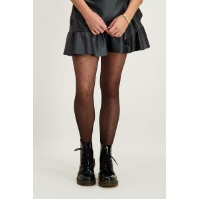 Zwarte panty met stippen