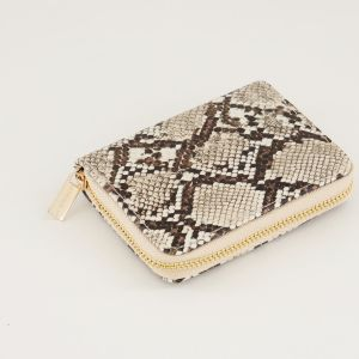 Portemonnee klein slangenprint, portemonnee met print