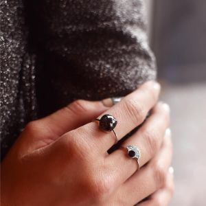 Black Big Stone Ring