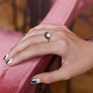 Pearl Stone & Bars Ring 2.0