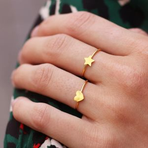 Sweet Little Heart Ring - Gold/Silver