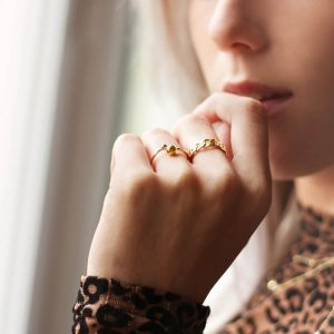 Gold Open Ring Studs