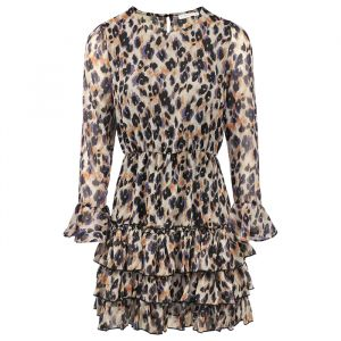 Jurk luipaard & laagjes, luipaard jurk My Jewellery