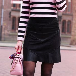 Faux Leather Skirt - Black