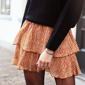 Rust Double Layer Spot Skirt