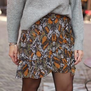Multicolor Snake Wrap Skirt