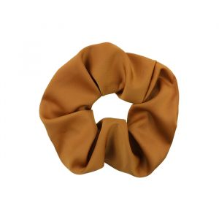 Bruine scrunchie basic, Haarelastiekje My Jewellery