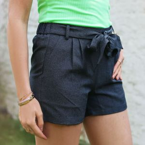 Antraciet short casual