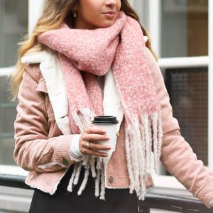 Basic Coral Pink Scarf