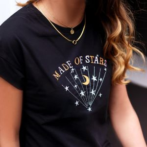 Black Galaxy Shirt Made Of Stars