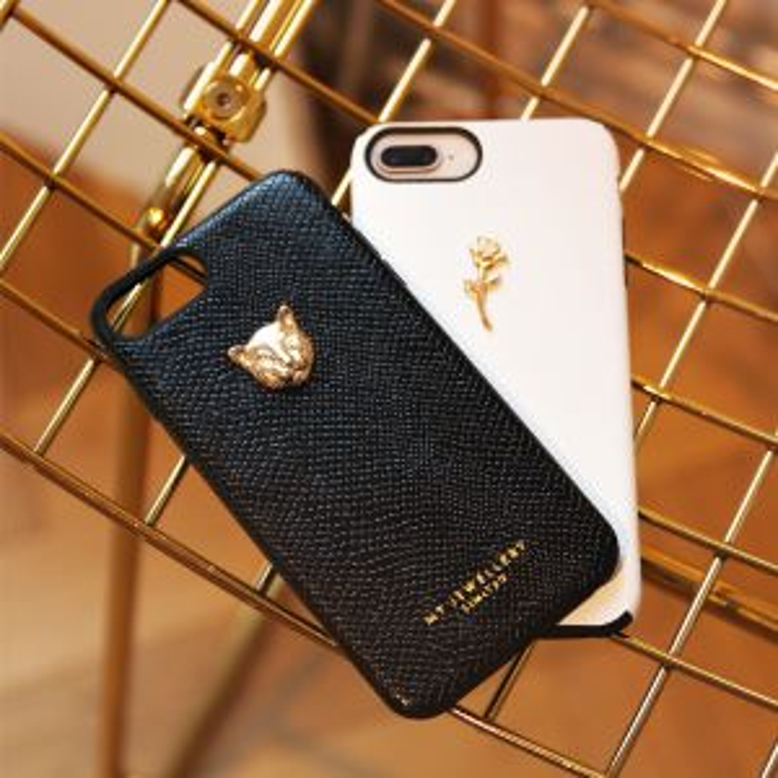 Zwart telefoonhoesje luipaard