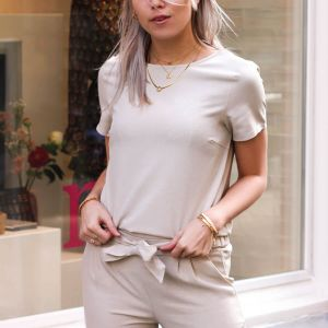 Beige top casual