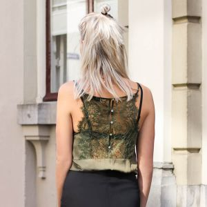 Lace Cami Top - Olive Green