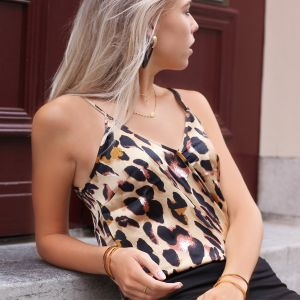 Leopard Wrap Top - Brown