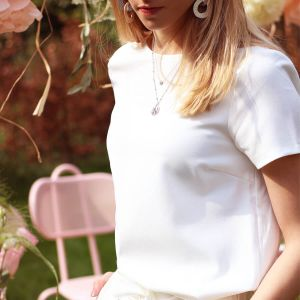 Witte top casual