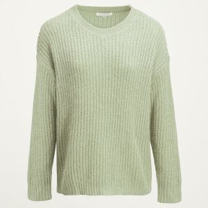 Groene gebreide oversized trui, oversized sweaters